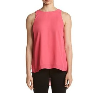 Relativity High Low Shell Bright Pink Top Blouse